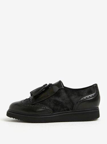 a12291992b4e Čierne dámske lesklé loafers Toms