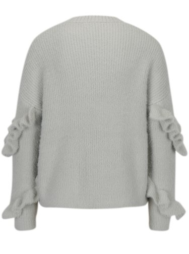 Šedý svetr s volány na rukávech Miss Selfridge