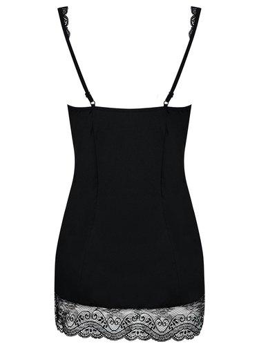 Sada černé košilky a tang Obsessive Miamor chemise