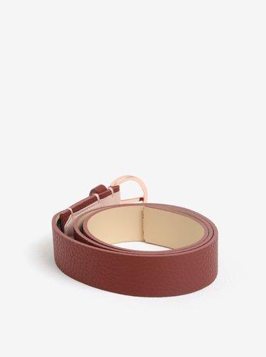 Cihlový dámský kožený pásek Calvin Klein Lizzy