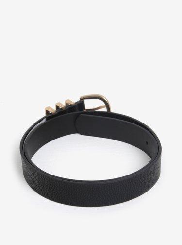 Curea neagra cu catarama aurie - Pieces Lea