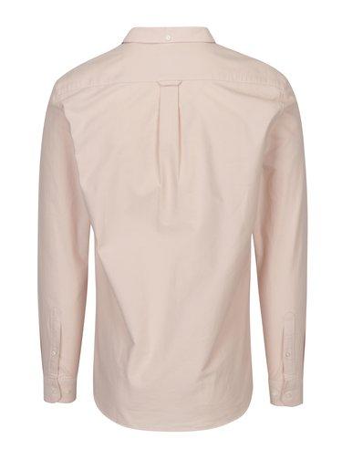 Camasa slim fit roz pal cu guler buttons-down Farah Brewer