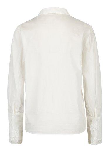 Krémová košeľa s čipkou na rukávoch VERO MODA Nessa