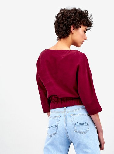 Bluza crop bordo Kings of Indigo Lalla