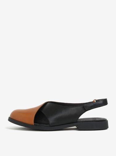 f9fa2010d39d Hnedé topánky na podpätku a platforme Tamaris