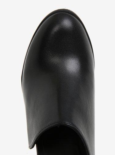 Čierne dámske kožené topánky na vysokom podpätku Royal RepubliQ