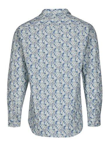 Modro-biela kvetovaná slim fit košeľa Selected Homme Do Nesel-Rio