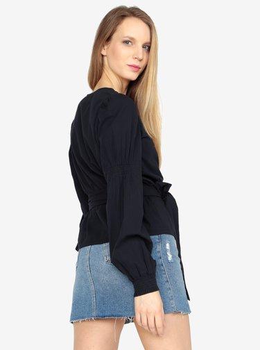 Bluza bleumarin cu decolteu suprapus - VERO MODA Silja