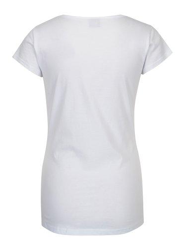Tricou alb cu print pentru femei - Horsefeathers Sally