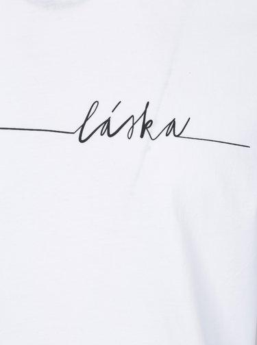 Biele pánske tričko s potlačou ZOOT Original Láska