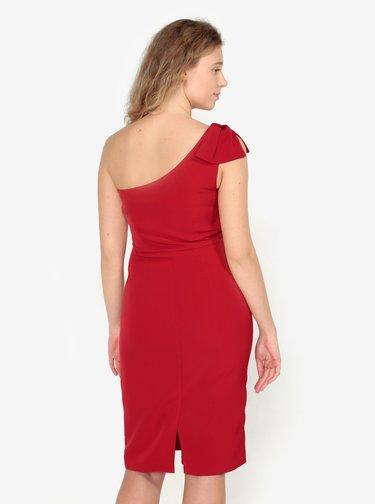 Červené asymetrické puzdrové šaty Oasis Lolita