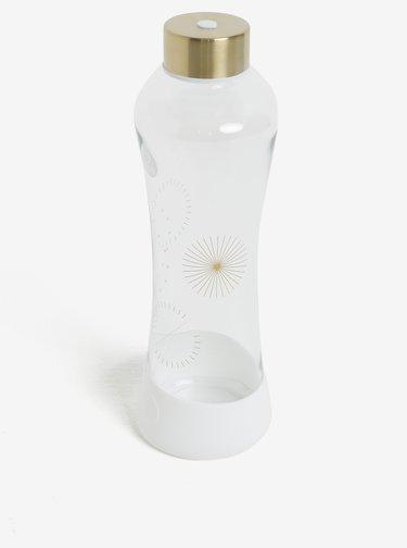 Biela sklenená fľaša s potlačou EQUA Stardust (550 ml)