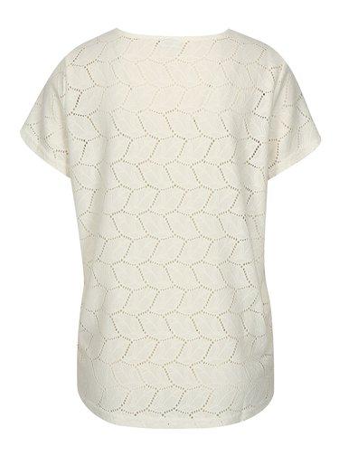 Bluza alba din plasa cu perforatii Jacqueline de Yong Tag