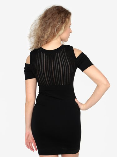 Rochie cold shoulder mini cu perforatii decorative -  Ivy Park