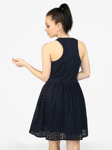 Tmavomodré vzorované šaty Superdry