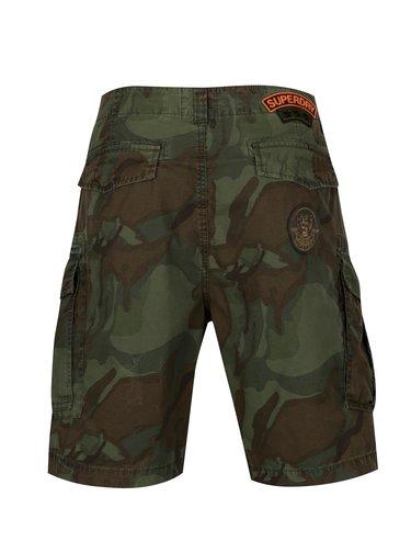 Pantaloni cargo scurti cu print camuflaj pentru barbati - Superdry