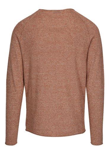 Tehlový melírovaný tenký sveter Selected Homme Clash