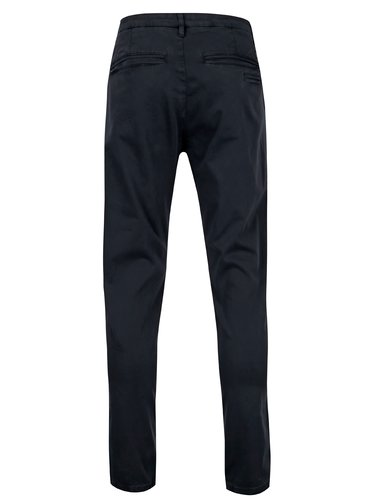 Pantaloni slim fit bleumarin din bumbac - Casual Friday by Blend