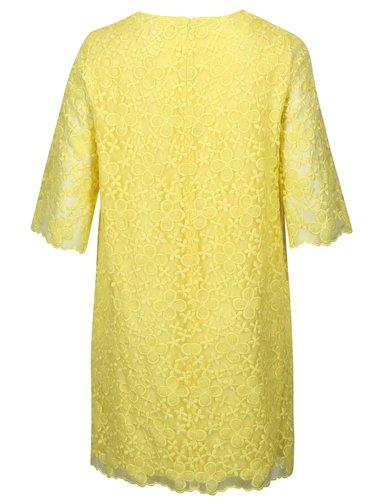 Žlté čipkované šaty Ulla Popken