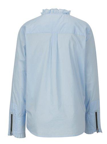Camasa bleu cu guler tunica si fermoare la maneci - Scotch & Soda