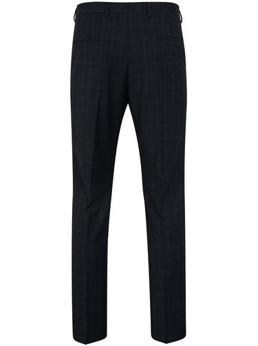 Pantaloni de costum bleumarin din lana cu carouri discrete - Selected Homme Done Buffalo