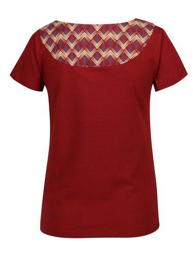 Červené tričko se vzorovaným potiskem Tranquillo Loreley
