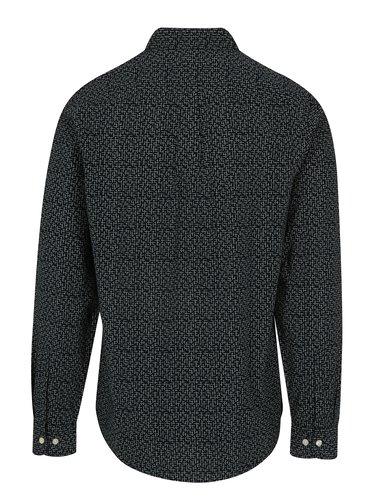 Tmavomodrá vzorovaná košeľa Original Penguin Polin