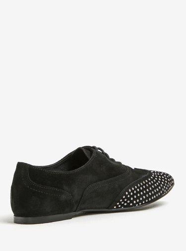 Pantofi din piele intoarsa cu tinte argintii - OJJU