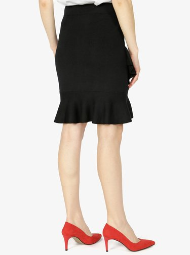 Čierna sukňa s volánom VERO MODA Mya