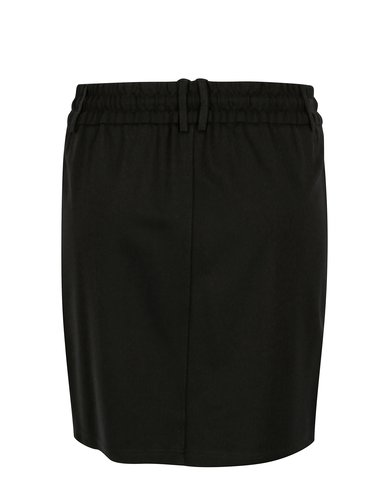 Fusta neagra cu talie elastica - ONLY Poptrash