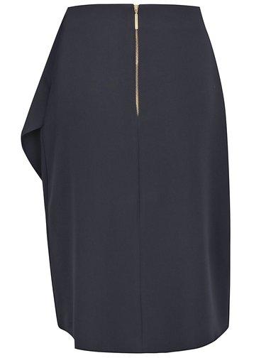 Tmavomodrá sukňa s volánom Closet