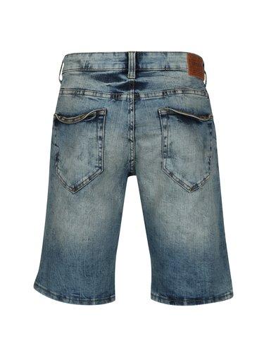 Pantaloni scurti albastri din denim cu aspect deteriorat - ONLY & SONS Ply