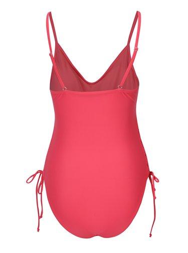 Růžové jednodílné plavky se šněrováním Pieces Ibbi
