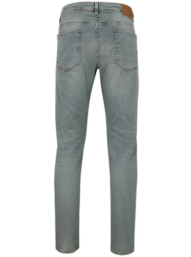 Svetlomodré slim fit rifle Selected Homme Leon