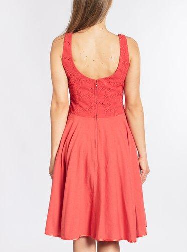 Červené kolové šaty s krajkou Blutsgeschwister