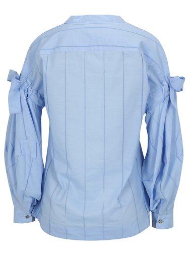 Bluza bleu cu maneci balon si funde - Scotch & Soda