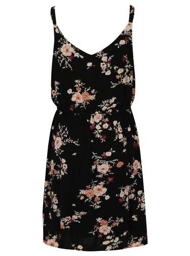 Černé květované šaty ONLY Karmen