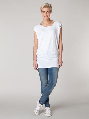 Bílé volné basic tričko Yest