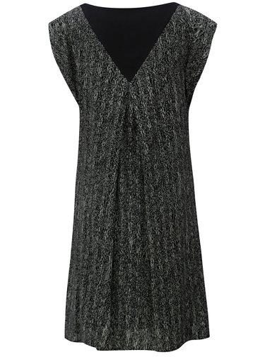 Sivo-čierne voľné vzorované šaty SKFK Geretz