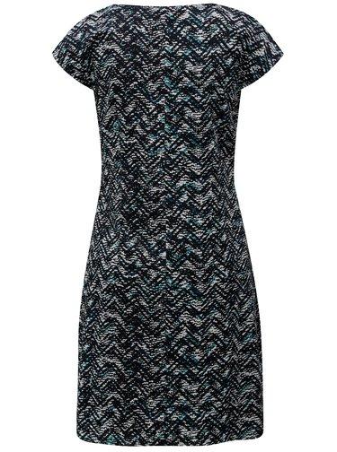 Bielo-modré vzorované šaty s asymetrickým zipsom SKFK Aiara