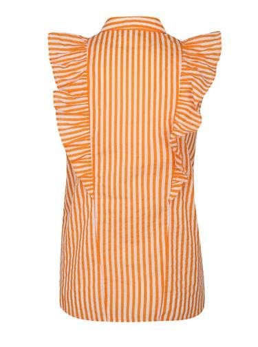 Bluza oranj-alb in dungi cu volane Noisy May Jack