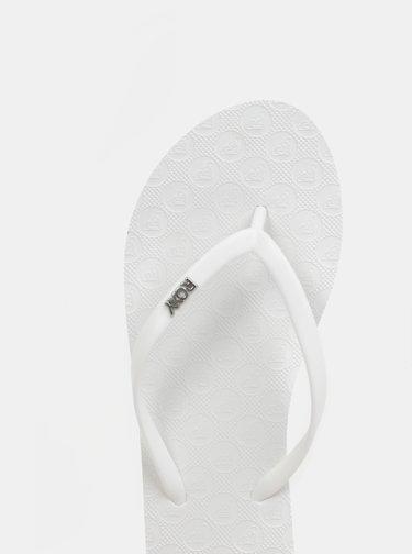 Biele dámske žabky Roxy Viva