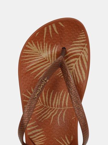 Hnedé vzorované žabky Ipanema Anat
