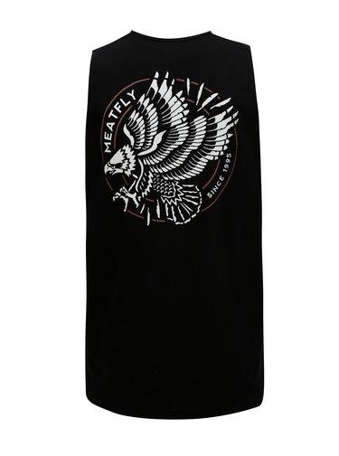 Černé pánské tílko s potiskem na  zádech MEATFLY Ripped