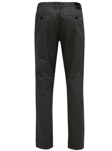 Šedé pánské slim chino kalhoty NUGGET Lenchino
