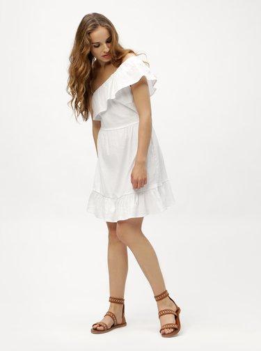Biele asymetrické šaty VERO MODA Sia