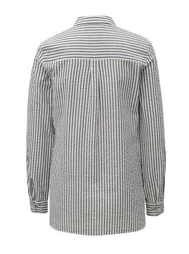 Bílo-šedá pruhovaná košile Dorothy Perkins