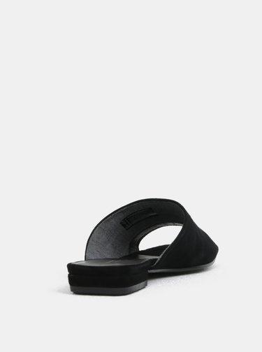 Papuci de dama negri din piele intoarsa Vagabond Becky