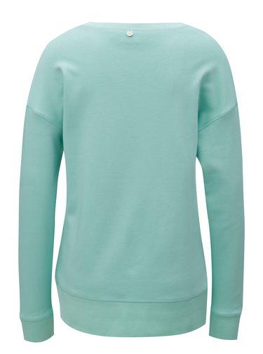 Bluza sport verde deschis cu print Rich & Royal