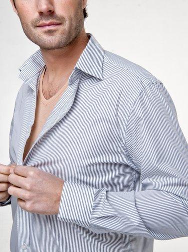 Sada piatich skinny tričiek pod košeľu v telovej farbe Covert Underwear